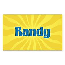 Randy Sunburst Rectangle Decal