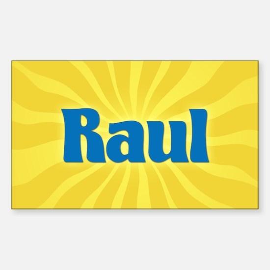 Raul Sunburst Oval Decal