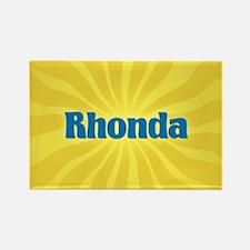 Rhonda Sunburst Rectangle Magnet
