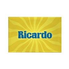Ricardo Sunburst Rectangle Magnet