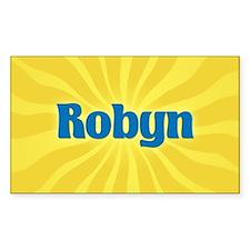Robyn Sunburst Oval Decal