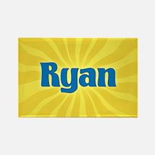 Ryan Sunburst Rectangle Magnet