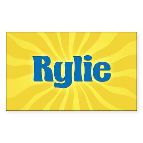 Rylie Sunburst Oval Sticker