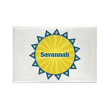 Savannah Sunburst Rectangle Magnet