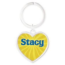 Stacy Sunburst Heart Keychain
