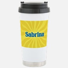 Sabrina Sunburst Stainless Steel Travel Mug