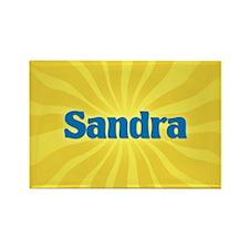 Sandra Sunburst Rectangle Magnet