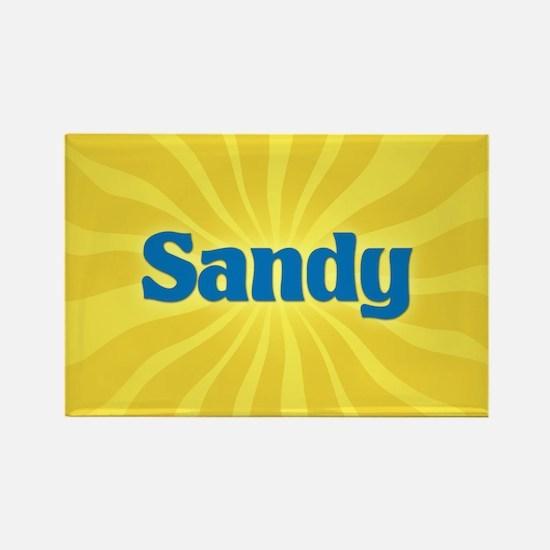 Sandy Sunburst Rectangle Magnet