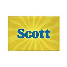 Scott Sunburst Rectangle Magnet