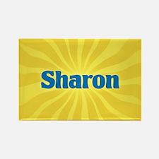 Sharon Sunburst Rectangle Magnet