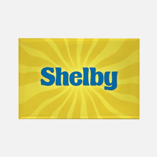 Shelby Sunburst Rectangle Magnet