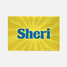 Sheri Sunburst Rectangle Magnet
