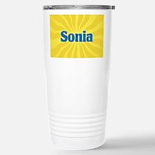 Sonia Sunburst Stainless Steel Travel Mug