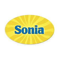 Sonia Sunburst Oval Car Magnet