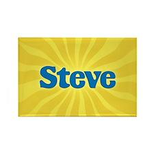 Steve Sunburst Rectangle Magnet