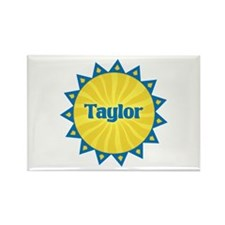 Taylor Sunburst Rectangle Magnet