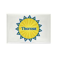 Theresa Sunburst Rectangle Magnet