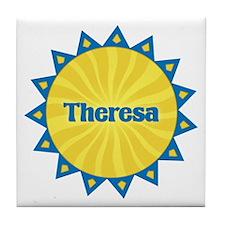Theresa Sunburst Tile Coaster