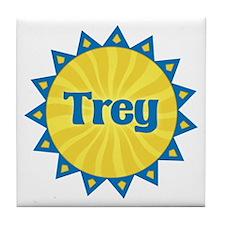 Trey Sunburst Tile Coaster