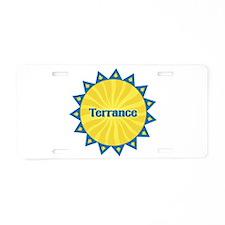 Terrance Sunburst Aluminum License Plate