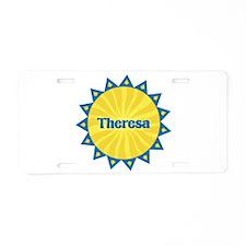 Theresa Sunburst Aluminum License Plate