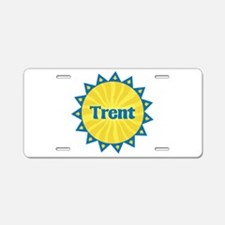 Trent Sunburst Aluminum License Plate