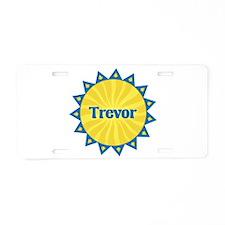 Trevor Sunburst Aluminum License Plate