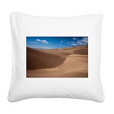 Colorado Sand Dunes Square Canvas Pillow