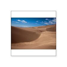 """Colorado Sand Dunes Square Sticker 3"""" x 3"""""""