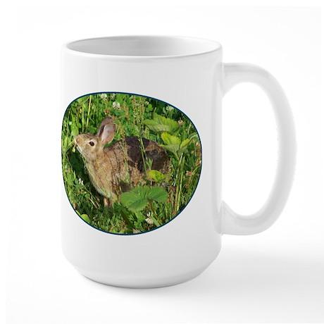 Bunny With A Strawberry Large Mug