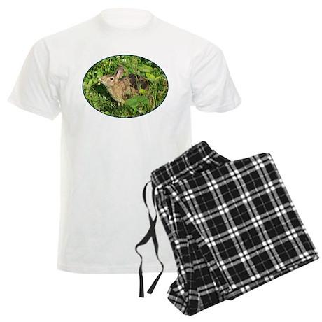 Bunny With A Strawberry Men's Light Pajamas