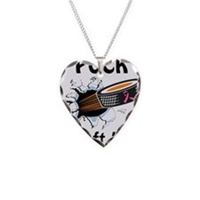 Puck Cleft Lip Necklace Heart Charm