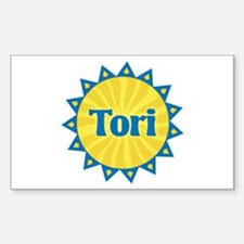 Tori Sunburst Rectangle Decal