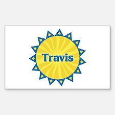 Travis Sunburst Rectangle Decal