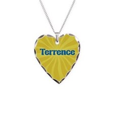 Terrence Sunburst Necklace Heart Charm