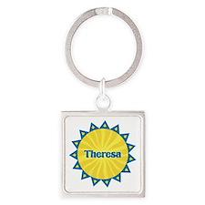 Theresa Sunburst Square Keychain