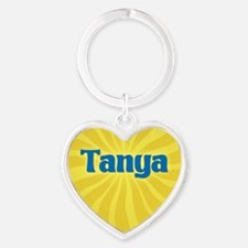 Tanya Sunburst Heart Keychain