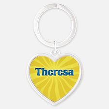 Theresa Sunburst Heart Keychain