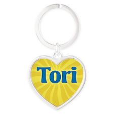 Tori Sunburst Heart Keychain