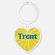 Trent Sunburst Heart Keychain