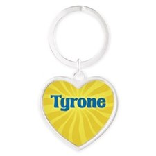 Tyrone Sunburst Heart Keychain
