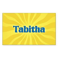 Tabitha Sunburst Oval Decal