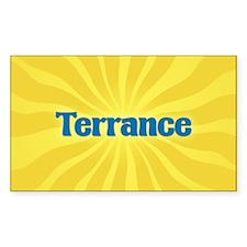 Terrance Sunburst Oval Decal