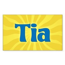 Tia Sunburst Oval Decal