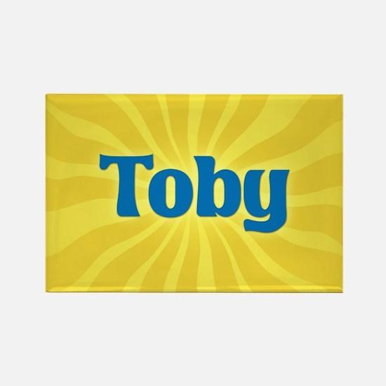 Toby Sunburst Rectangle Magnet