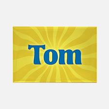 Tom Sunburst Rectangle Magnet