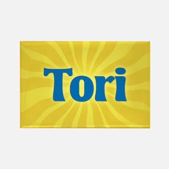 Tori Sunburst Rectangle Magnet
