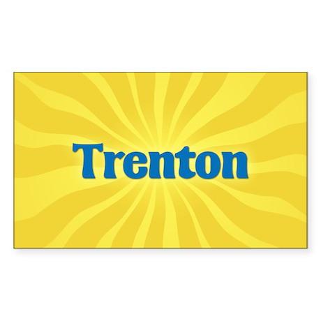 Trenton Sunburst Rectangle Sticker