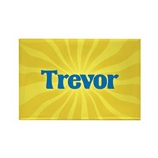 Trevor Sunburst Rectangle Magnet