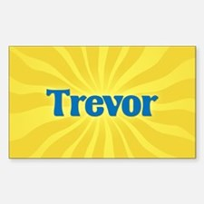 Trevor Sunburst Oval Decal